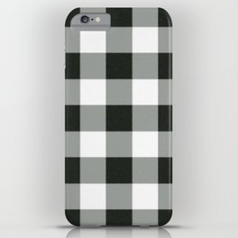 Buffalo Check in black iPhone Case