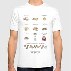 Foods of 30 Rock Mens Fitted Tee White MEDIUM