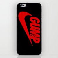 forrest gump iPhone & iPod Skins featuring Gump- JustDoIt III by IIIIHiveIIII