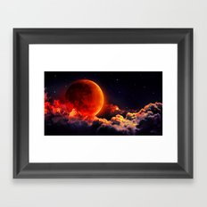 Big Bloody Moon Framed Art Print