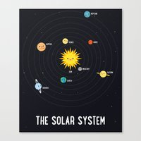solar system Canvas Prints featuring Solar System by Sara Showalter