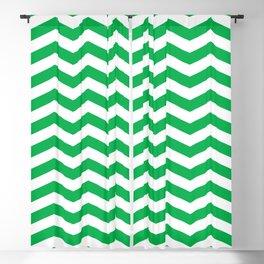 Green Chevron Pattern Blackout Curtain
