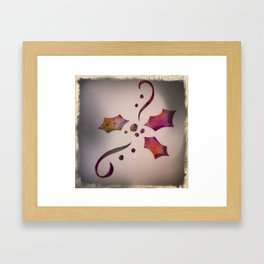 Christmas holly Framed Art Print