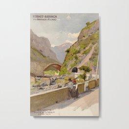 Vintage poster - Fernet-Branca Metal Print
