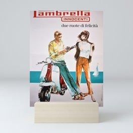 1963 Lambretta Innocenti Motor Scooter Advertisement Poster Mini Art Print
