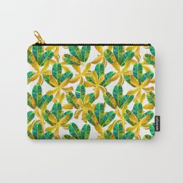 Mosaic leaf and yellow flowers Carry-All Pouch
