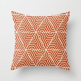 Sinopia - red - Geometric Seamless Triangles Pattern Throw Pillow
