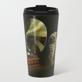 Pug and His Master´s Voice Travel Mug