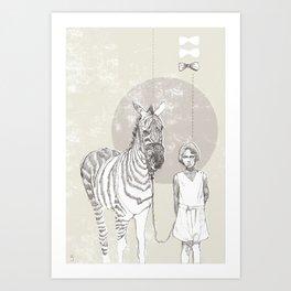 My Pet Zebra Art Print