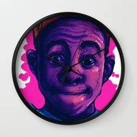 tyler the creator Wall Clocks featuring Tyler The Creator II (Pink) by ASHUR Collective™