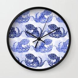 Mythic Octopus - Indigo Wall Clock