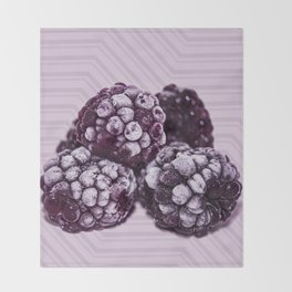 BlackBerries and Lilac 01 Throw Blanket