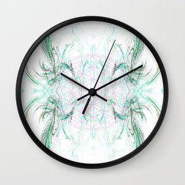 smoke on the flower of life Wall Clock
