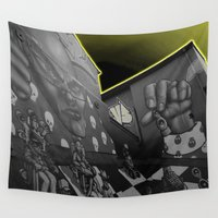 hip hop Wall Tapestries featuring Hip hop Chess Wall by FryFoto