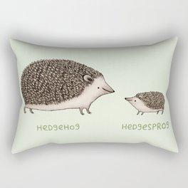 Hedgehog Hedgesprog Rectangular Pillow