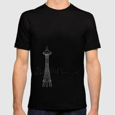 Seattle by Friztin MEDIUM Mens Fitted Tee Black