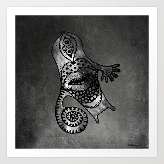 Whirlpool Hand ( HQ pixel ) Art Print
