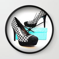 shoe Wall Clocks featuring Shoe Lust by 2sweet4words Designs