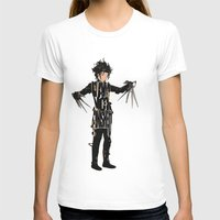 johnny depp T-shirts featuring Edward Scissorhands - Johnny Depp by Ayse Deniz