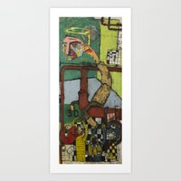 Logic, Reason, and Purpose Under the Fecal Pipes Art Print