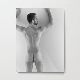 Hands Up Rear Nude Metal Print