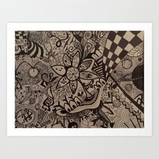 Black and Blanco Art Print