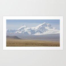 Tibetan Earth and Ice Art Print