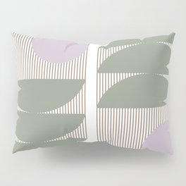 Lines and Shapes in Moss and Lilac Pillow Sham