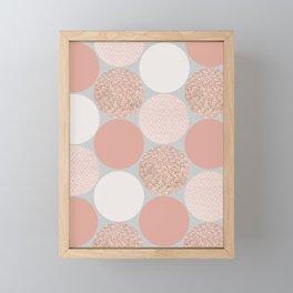 Rose Gold Dots Framed Mini Art Print