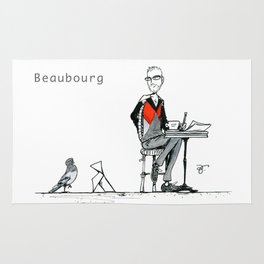 A Few Parisians: Beaubourg by David Cessac Rug