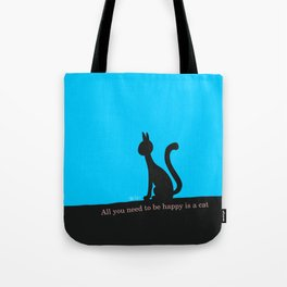 Cat calmly watching in silence Tote Bag