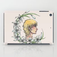 enjolras iPad Cases featuring Enjolras and lilies by MonsterFromTheLAke
