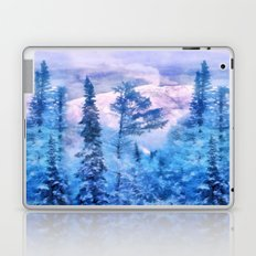 Winter forest in mountains Laptop & iPad Skin