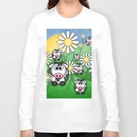 cows Long Sleeve T-shirts featuring Cows & Daisies  by Digi Treats 2