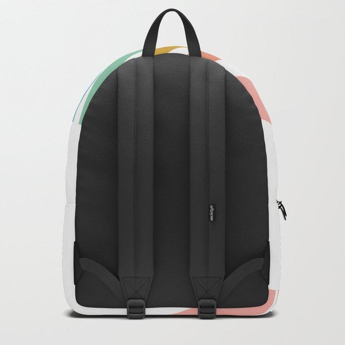 Simple Happy Rainbow Art Backpack