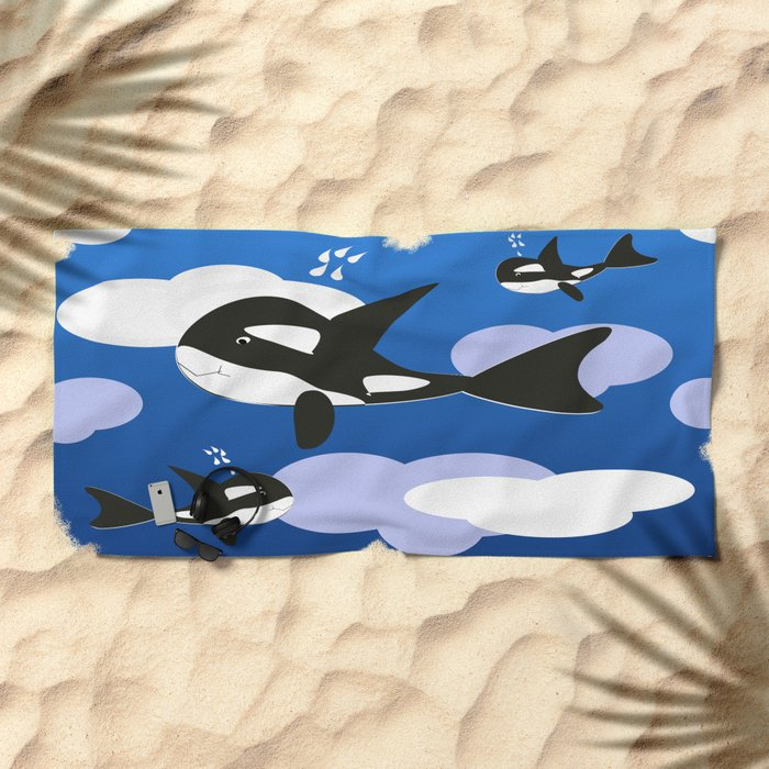Orca Design Beach Towel