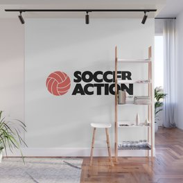 Soccer Action Wall Mural