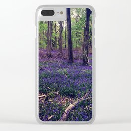 Bluebell Forest Clear iPhone Case