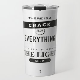 Leonard Cohen, Motivational Quote Travel Mug