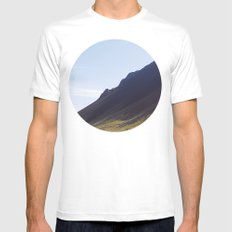 Obliquo, Iceland Mens Fitted Tee MEDIUM White