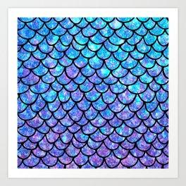 Purples & Blues Mermaid scales Art Print