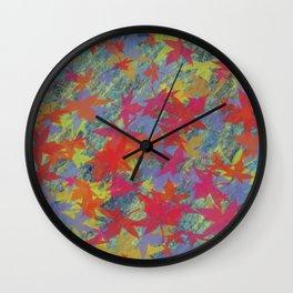 Leaf on texture_01  Wall Clock