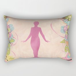 Woman of the Universe Rectangular Pillow