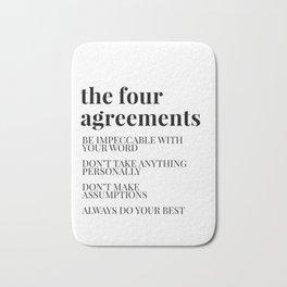 the four agreements Bath Mat