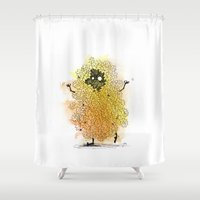 minions Shower Curtains featuring Forest Spirits: Oak by Miiapaws