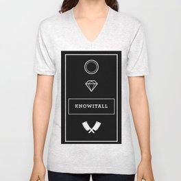 Knowitall Unisex V-Neck