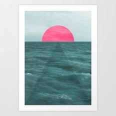 Magenta Sunset Art Print