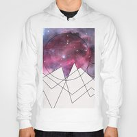 outer space Hoodies featuring Outer Space by FlurinaJT