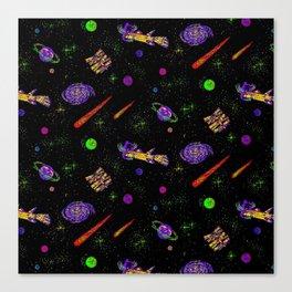 Technicolor Spaceship Canvas Print