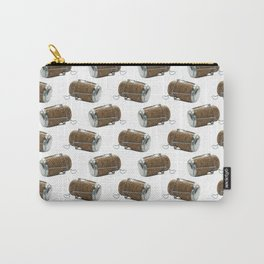 Champagne Cork Polka Dot Pattern Carry-All Pouch